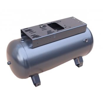 Druckluftkessel 90 L liegend  - 11 bar mit schmaler Konsole ohne Anbau